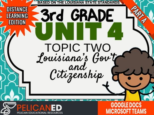 Unit 4 Topic 2 Part A – Louisiana's Government and Citizens – Distance Learning