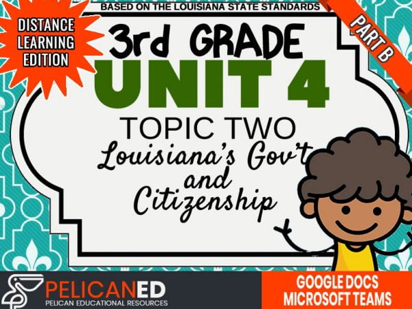 Unit 4 Topic 2 Part B – Louisiana's Government and Citizens – Distance Learning