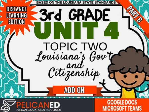 Unit 4 Topic 2 Part B – Louisiana's Government and Citizens – Distance Learning Add-on