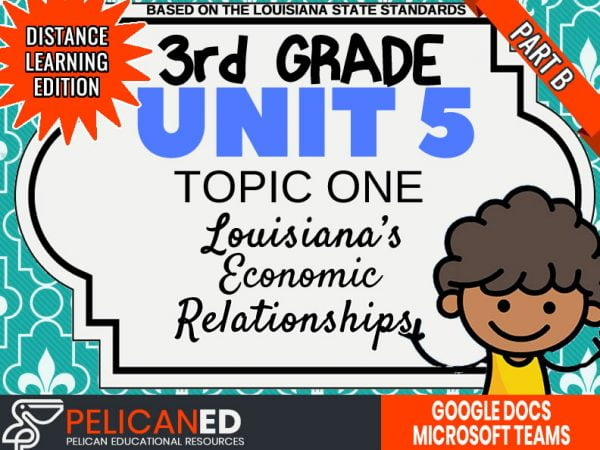 Unit 5 Topic 1 Part B – Louisiana's Economic Relationships – Distance Learning