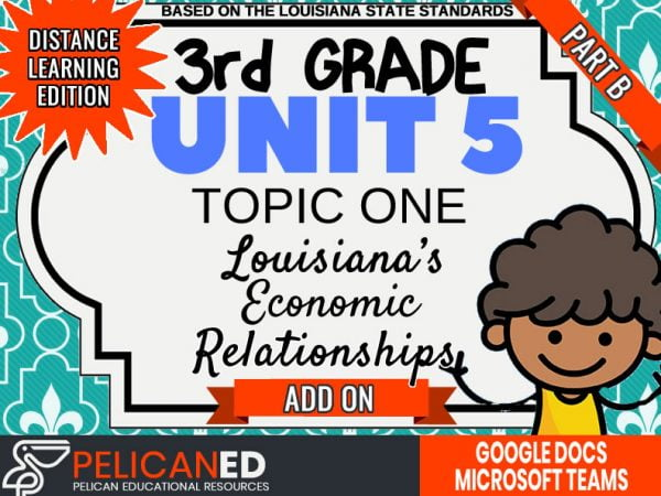 Unit 5 Topic 1 Part B – Louisiana's Economic Relationships – Distance Learning Add-On